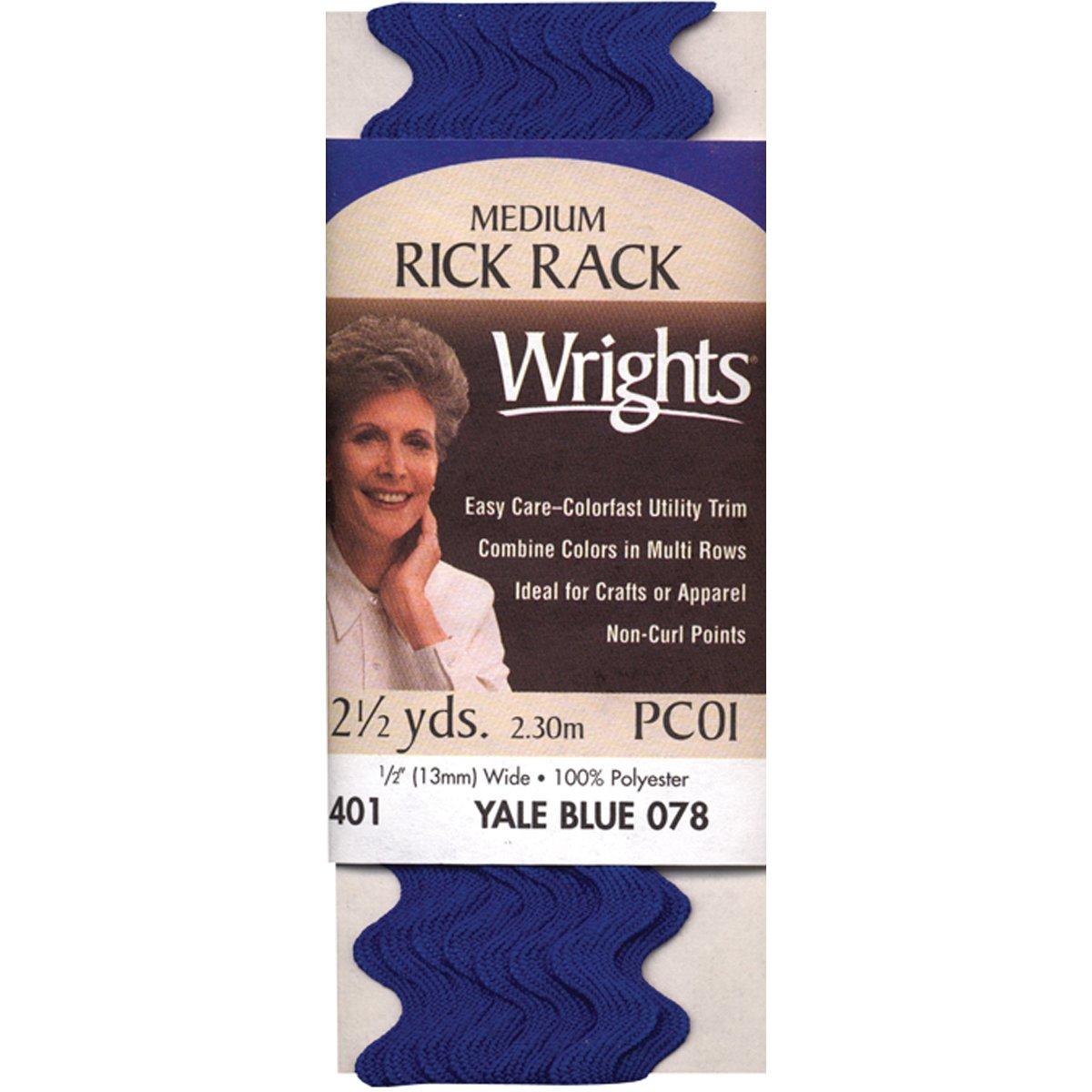 2,3/m 030/Polyester Rick Rack Trim 401 Blanc Medium Wrights 117