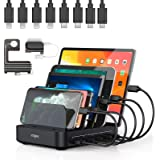 Charging Station, Vogek 50W 10A 5-Port USB Charging Station for Multiple Device with 8 Short Mixed Cables Watch & Airpod…