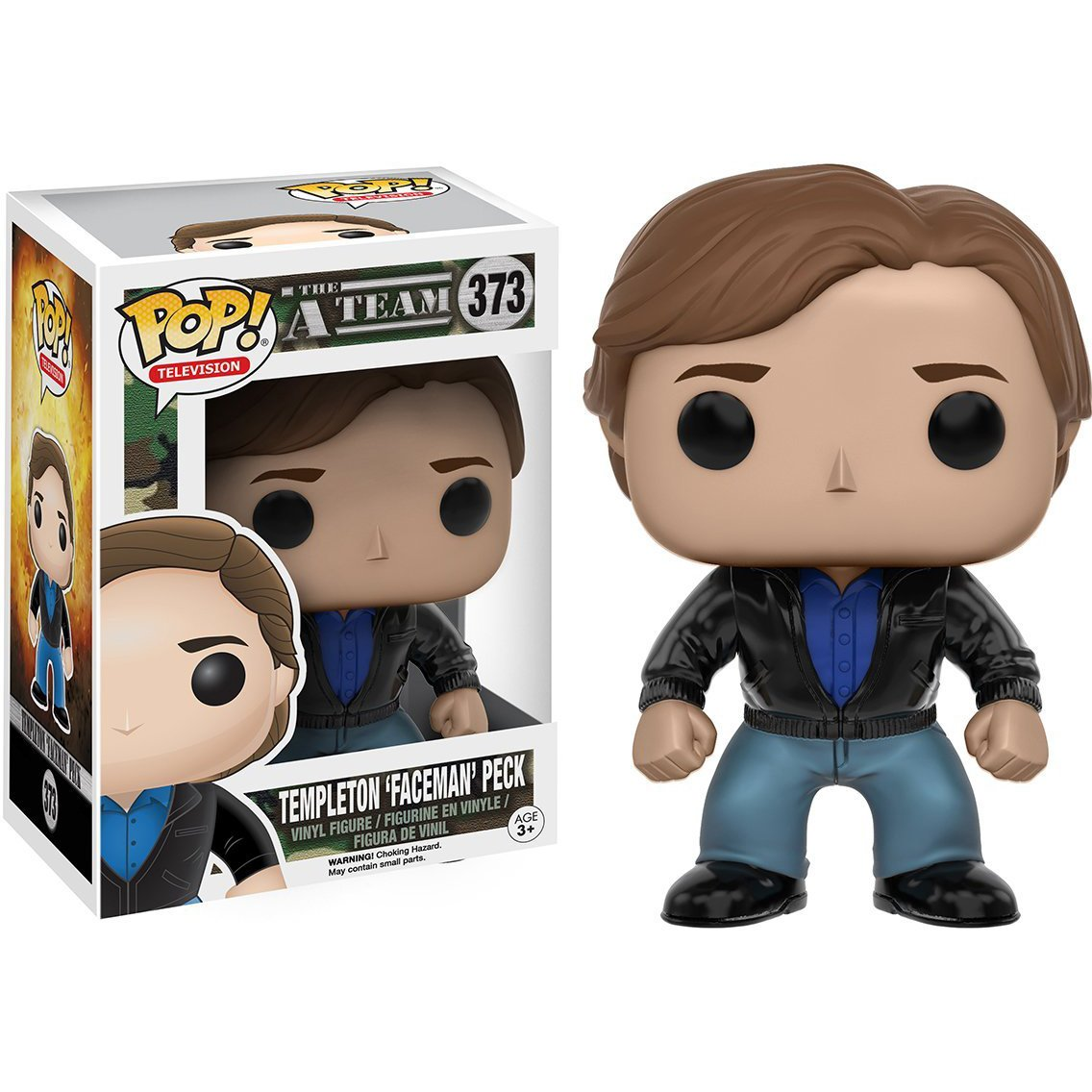 x The A-Team Vinyl Figure BCC9485209 Templeton Faceman Peck: Funko POP 064273 1 FREE American TV Themed Trading Card Bundle
