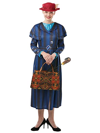 Rubies Official Disney Mary Poppins Return Movie Dress Up Set, Bag & Umbrella Accessory Pack, tamaño único para niños y adultos