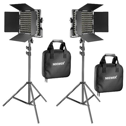 Studio Lighting Kit Amazon: Neewer 2-Pack Dimmable Bi-color 660 LED Video Light