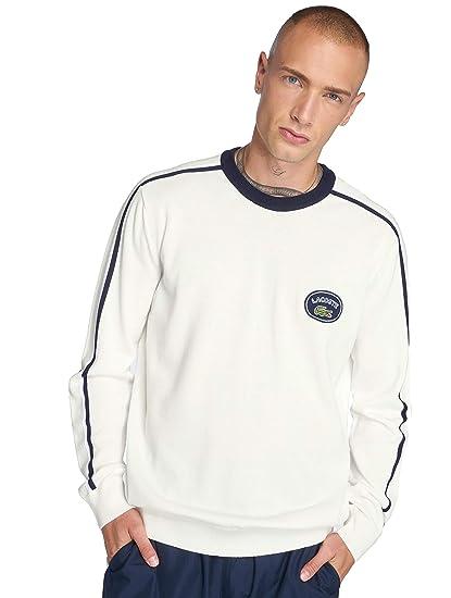 e83099d7a3c35e Lacoste Men Overwear/Jumper Contrast White L: Amazon.co.uk: Clothing
