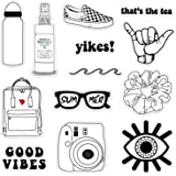 Aesthetic Diy Vsco Stickers Black And White Printable Kalimat Blog