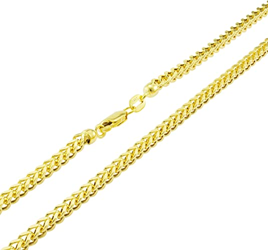 """Authentic 10K Yellow Gold Hollow Figaro Chain Necklace 3.5mm//16/"""" ~ 30/"""""""
