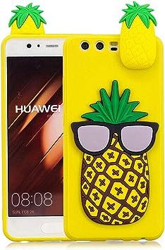 Mzbaolingmeidongeu Coque Huawei P10 3d Ananas Joli Dessin