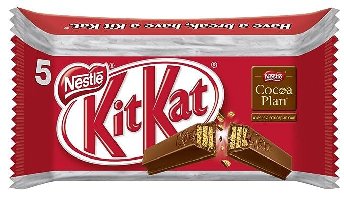 KitKat Galleta Recubierta de Chocolate con Leche, 67.7% - 225 gr