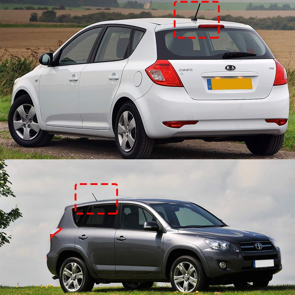 Unafraid Car Wash BASIKER 7 Inch Antenna Mast Compatible with Toyota RAV4 Hyundai KIA /& Also Fits Ford Jeep Dodge Small Vehicles