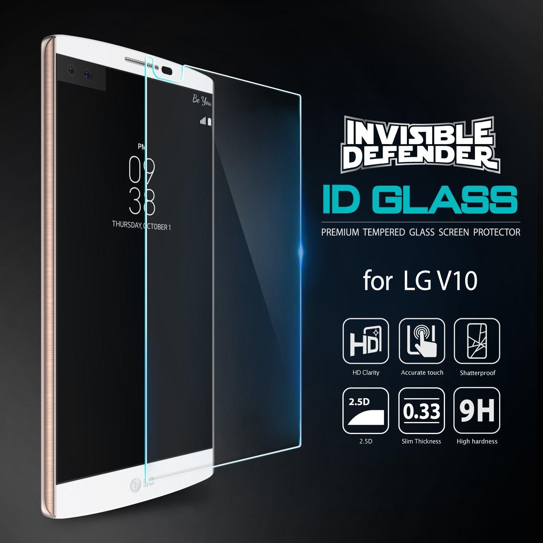 ... Invisible Defender Glass [MAX HD CLARIDAD] LG V10 vidrio protector de Pantalla Garantía de por vida Perfect Touch de precisión de alta definición (HD) ...