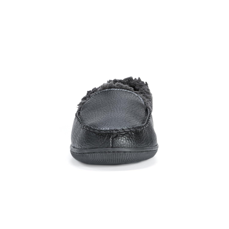 Muk Luks Mens Moccasin-Black Slip-On Loafer