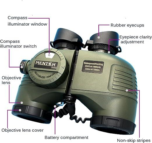Mentch 7 X 50 Hd Wasserdichtes Militärfernglas Mit Kamera