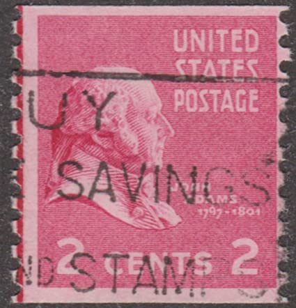 2 CENT JOHN ADAMS UNITED STATES POSTAGE STAMP
