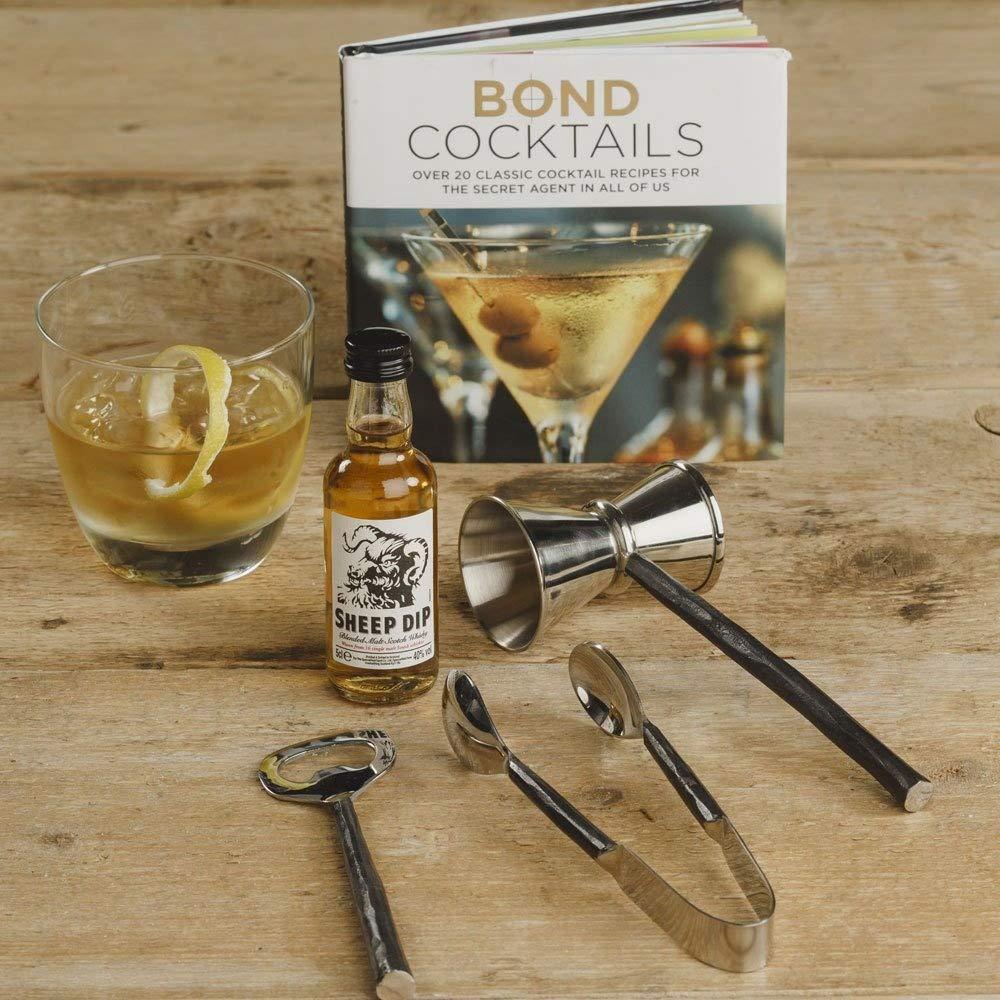 The Gourmet Gift Company Whisky Fü lle, Geschenk-Set –  Cocktail-Buch &-Zubehö r Set in Geschenkverpackung