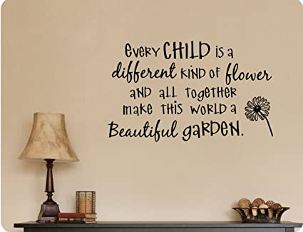 Amazoncom 38x24 Every Child Is A Different Kind Of Flower And