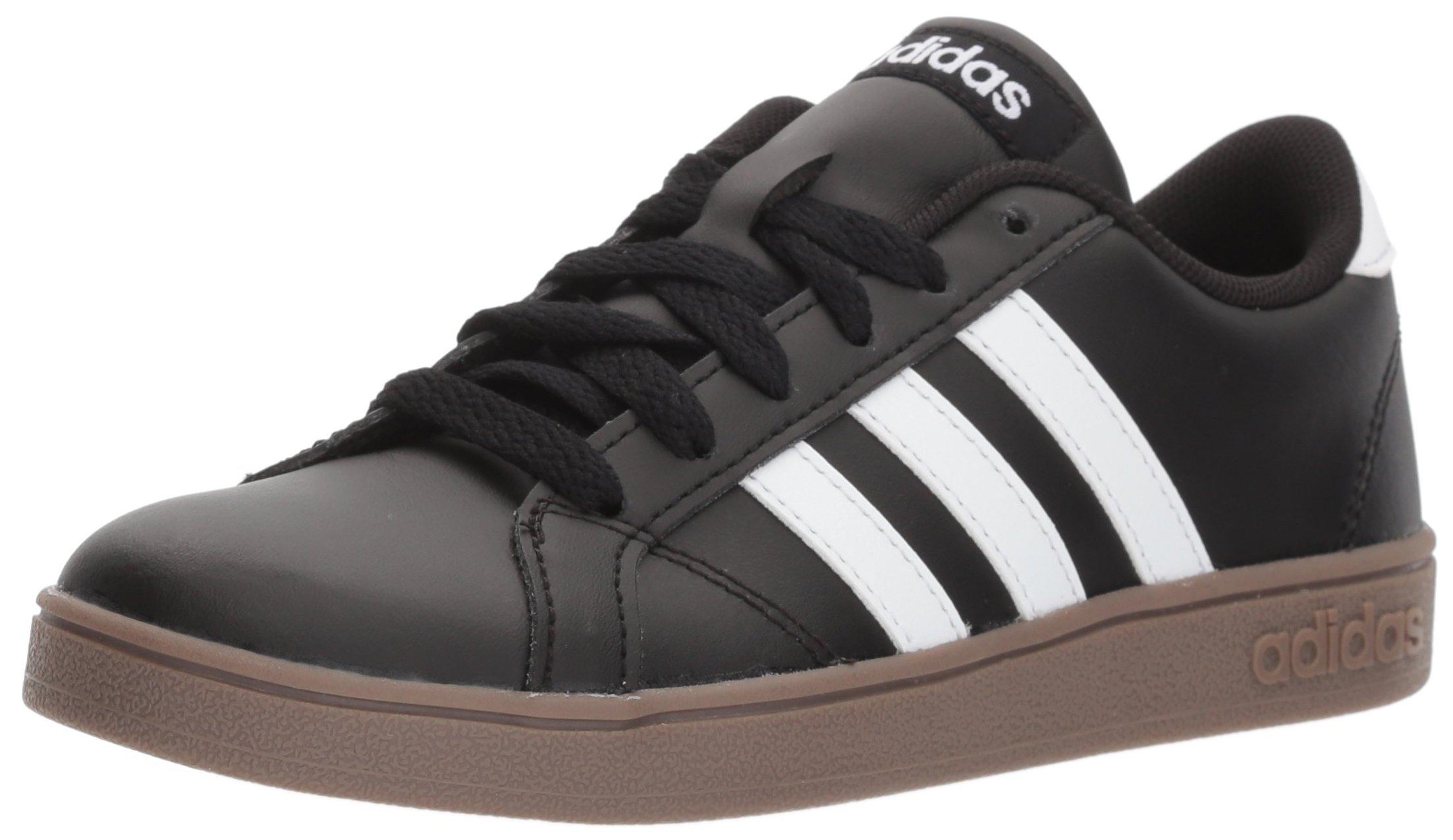 adidas Unisex-Kids Baseline Sneaker, Black/White/Gum, 7 M US Big Kid