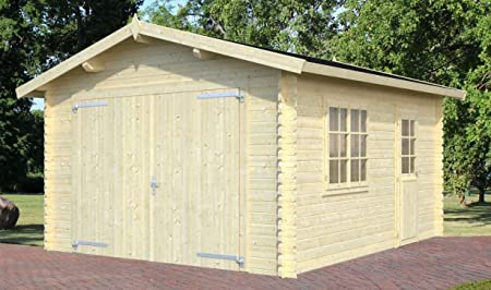 Ulmus U48 - Cobertizo para jardín (madera: 34 mm, superficie: 16,50 m2, tejado de sillín): Amazon.es: Bricolaje y herramientas
