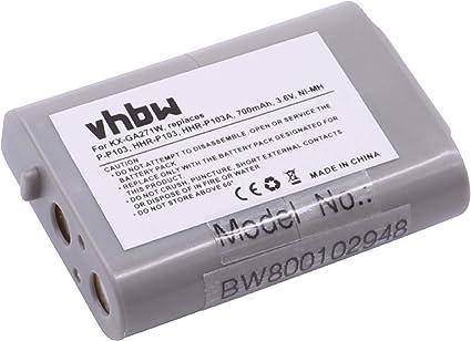 vhbw Ni-MH batería 700mAh (3.6V) para teléfono inalámbrico Radio Shack 102, 103, 23-966, 249, 43-9004, 43-9015, 43-9016, 43-9018?: Amazon.es: Electrónica