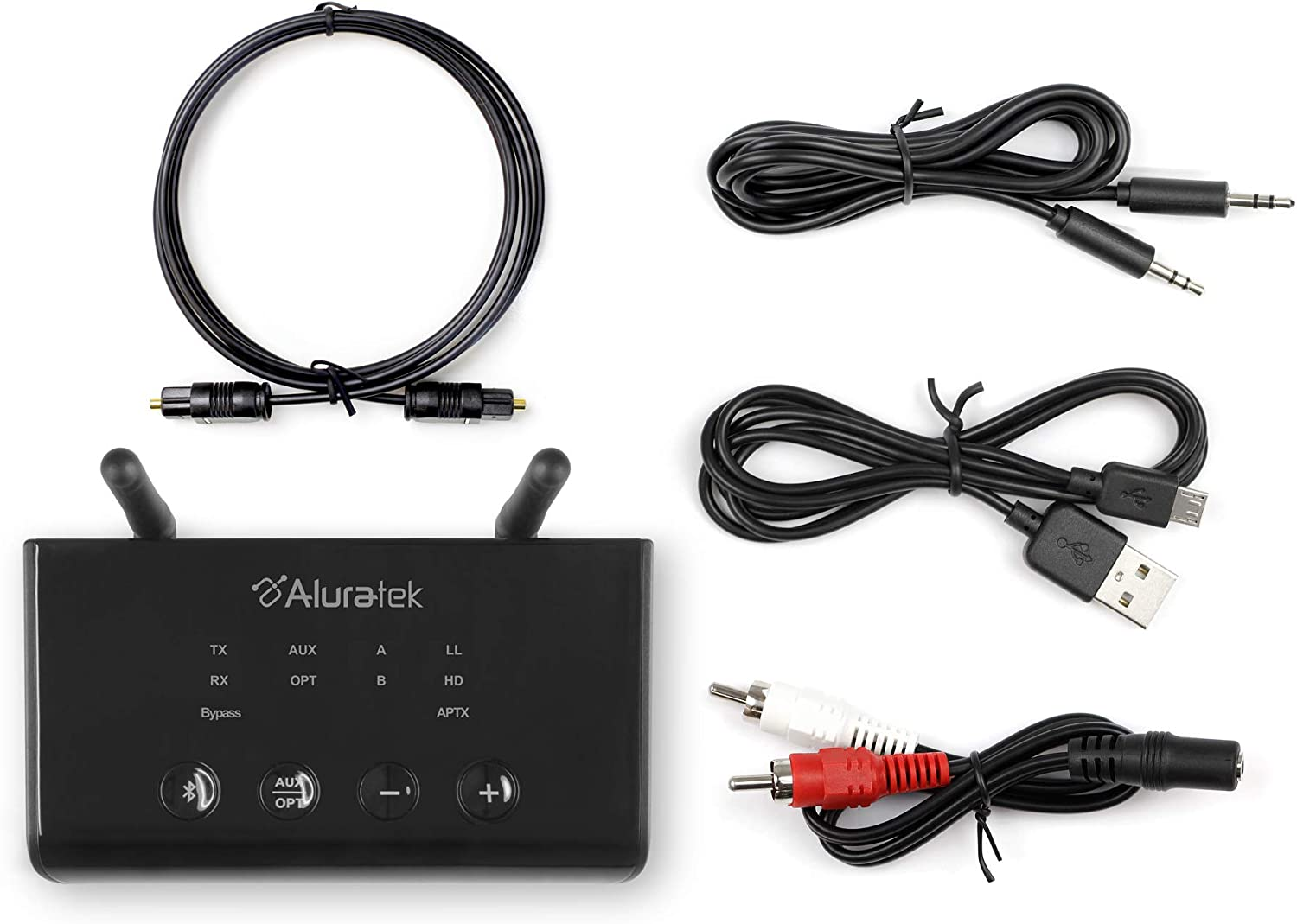 aptX Low Latency TaoTronics Long Range Bluetooth 5.0 Transmitter Receiver for TV Wireless Audio Adapter for Home Stereos Pairs Two Headphones Renewed Optical Digital aptX HD Aux /& RCA