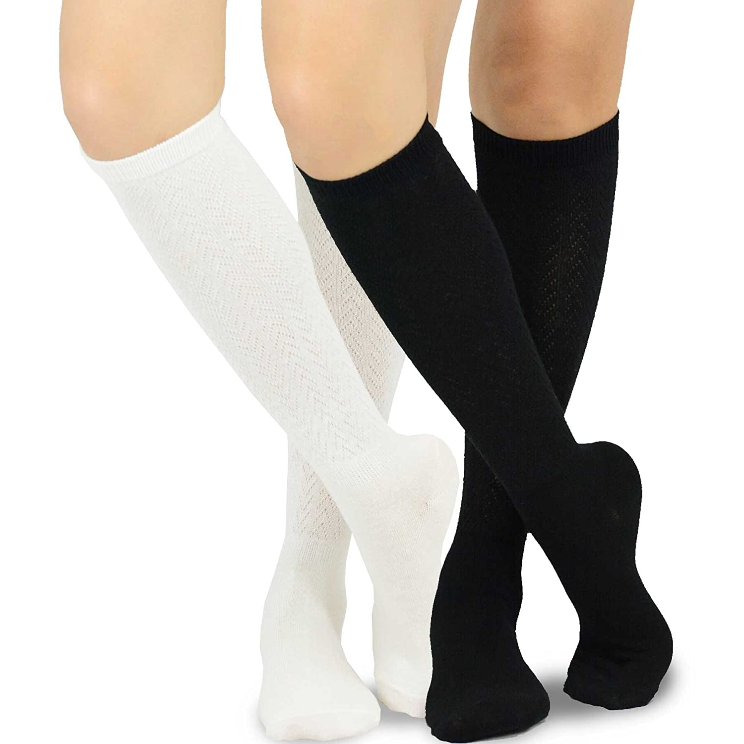 TeeHee Women's Fashion Knee High Socks - 2 Pairs Pack soxnet Inc S/10264-C08-2P