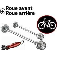 Antivol vélo pour roues de vélo - Kit roues avant et arrière