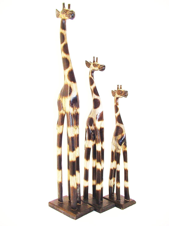 3 Set 200cm 180cm 120cm Holzgiraffe Holz Holzgiraffen Familie Holzgiraffe 120cm Giraffe Afrika Stil GH 990a6d