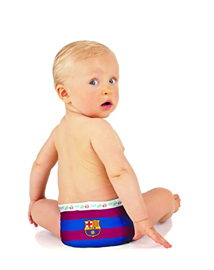 FC BARCELONA PAÑALES DIAPERS NAPPIES, Talla M (5-11kg)
