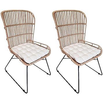 AltoBuy romarys - - Juego de 2 sillones de ratán: Amazon.es ...