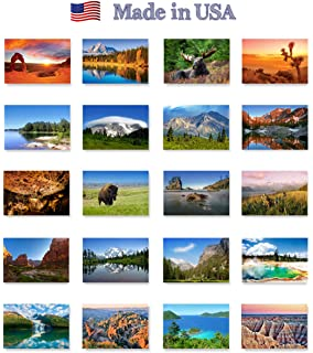 Amazoncom US State Map Postcard Set Modern Post Card - Map of all the national parks in the us