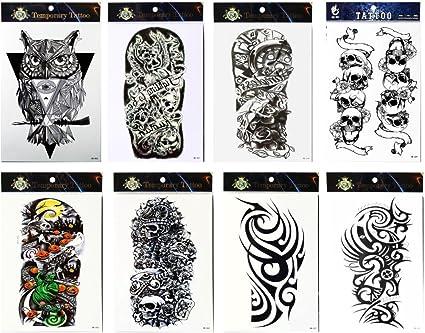 Larga duración y realista Temp Tattoo Stickers 8 brazo en un ...