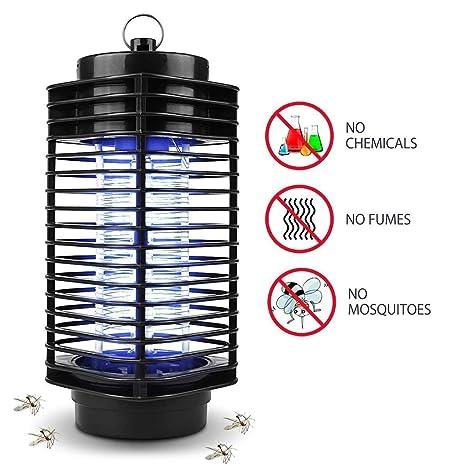 iweed Lámpara Antimosquitos Electrico Mata Mosquitos Moscas Insectos Polillas Control de Insectos UV LED Lámpara Mosquitos Interior y Exterior