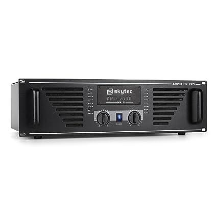 Skytec PRO-2000 Amplificador PA 2000W Negro