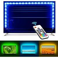 Minger 2M Ruban à LED RGB Pour HDTV, Rétroéclairage USB TV Bande Led Strip Flexible Avec 5V USB Câble et la RF Télécommande pour Décoration TV Moniteur Derrière, Ordinateur, etc.