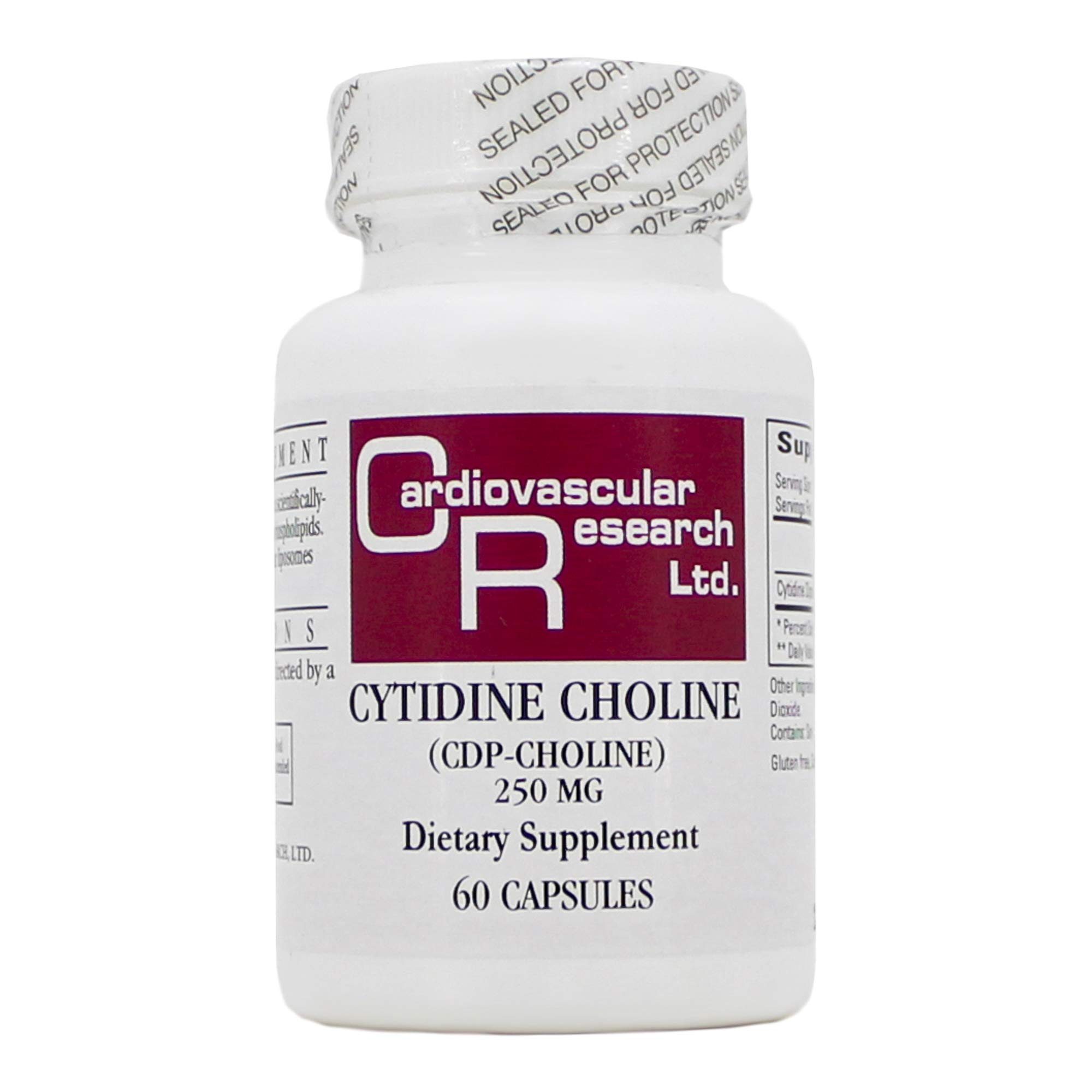 Cytidine Choline/CDP 250mg 60 Capsules by ECOLOGICAL FORMULAS - CARDIOVASCULAR RESEARCH