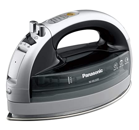 Panasonic NI-WL600 Cordless Multi-Directional Iron, Stainless Steel Soleplate, Silver Black