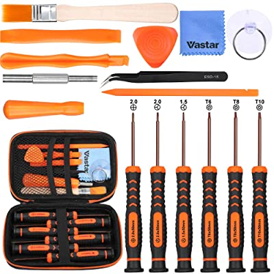 Vastar 17Pcs Triwing Screwdriver Set for Nintendo - Full Professional Screwdriver Bit Repair Tool Kit with S2 Steel for Nintendo New 3DS/2DS XL/NES/SNES Classic (2020)/Nintendo NDS/NDS: Home Improvement