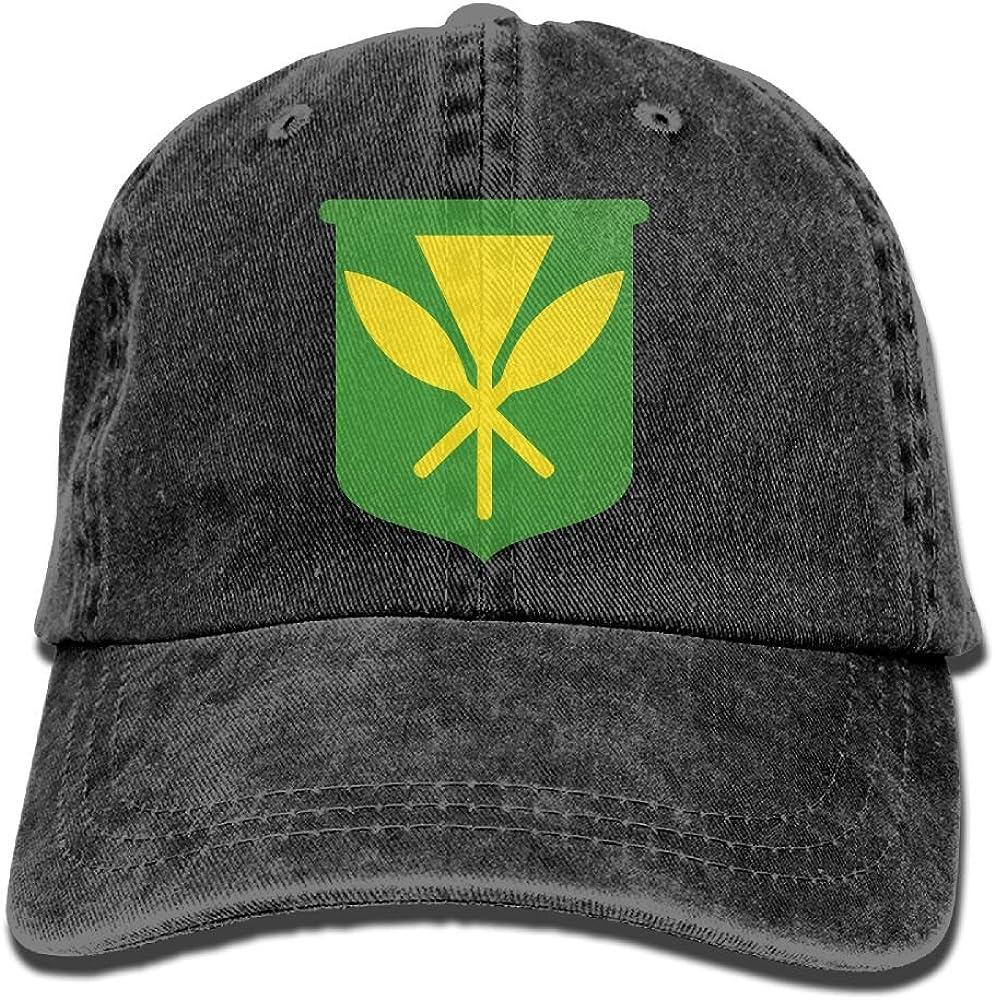 XZFQW Hawaii Kanaka Maoli Flag Trend Printing Cowboy Hat Fashion Baseball Cap for Men and Women Black