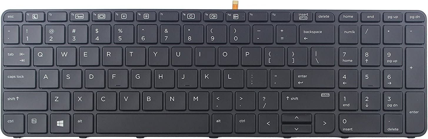 455 G3 Keyboard go go go Replacement Keyboard for HP ProBook 450 G3 470 G3 Laptop with Frame Backlight 450 G3