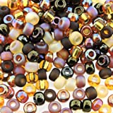 Miyuki Round Rocaille Seed Beads Size 6/0 20g Wheatberry Mix by Miyuki