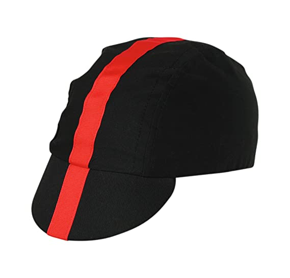 b7b9eb95e2405 Amazon.com   Pace Classic Cycling Cap (Black with Red)   Cycling Hat    Clothing