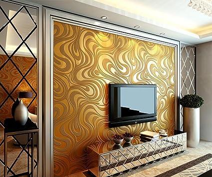 Amazon.com: Wallpaper Modern Minimalist 3D Stereoscopic Non-woven ...
