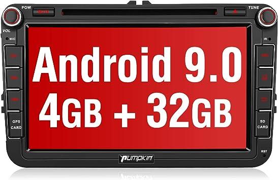 PUMPKIN - Navegador GPS para Coche Android 9.0 para VW Golf Seat ...