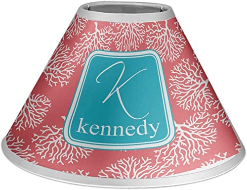RNK Shops Coral Teal Coolie Lamp Shade Personalized