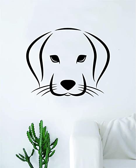 Amazon Com Dog Face Wall Decal Sticker Vinyl Art Bedroom