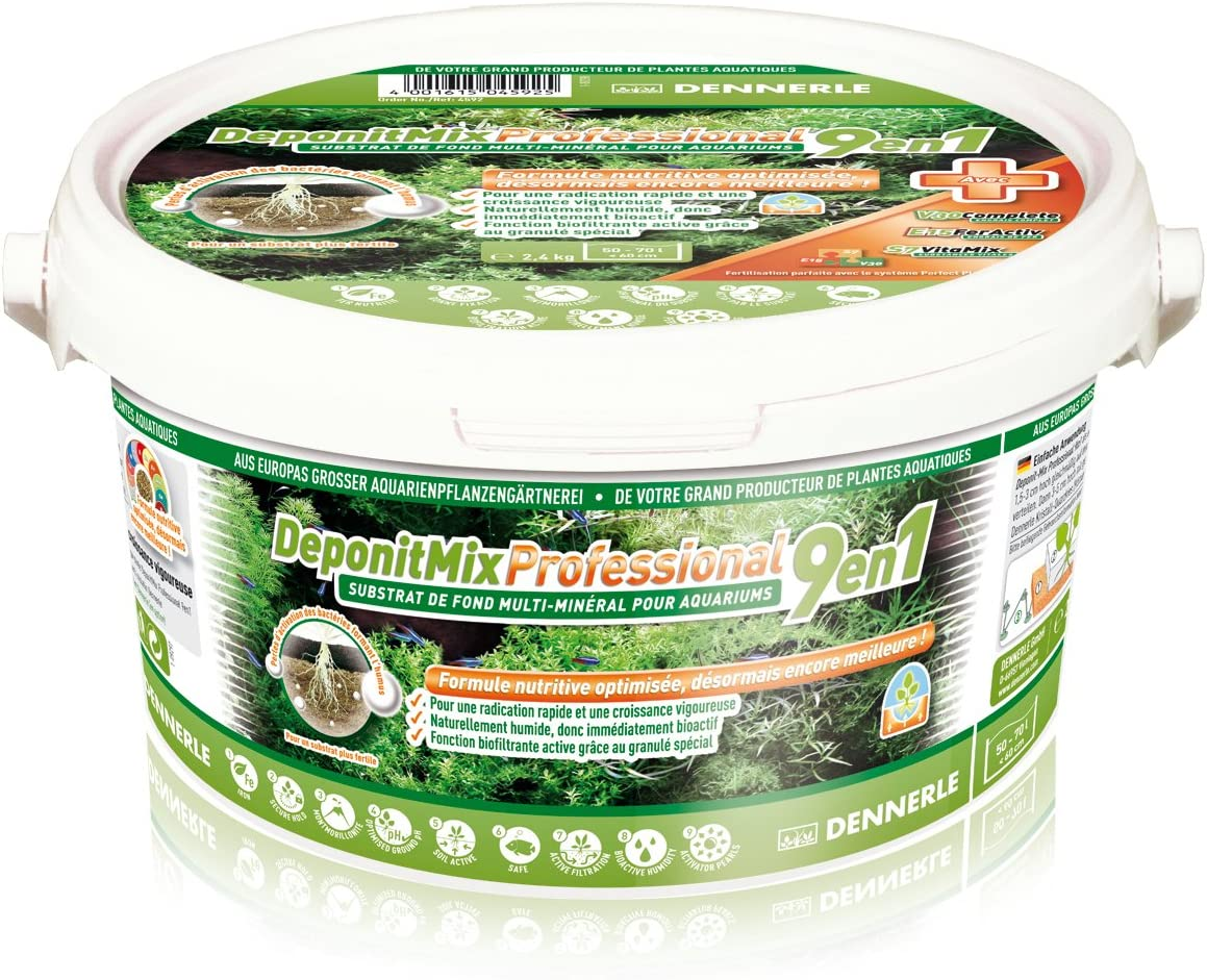 Dennerle deponit 9-in-1Profesional Mezcla, Acuario sustrato Multi-Mineral Base 2,4kg