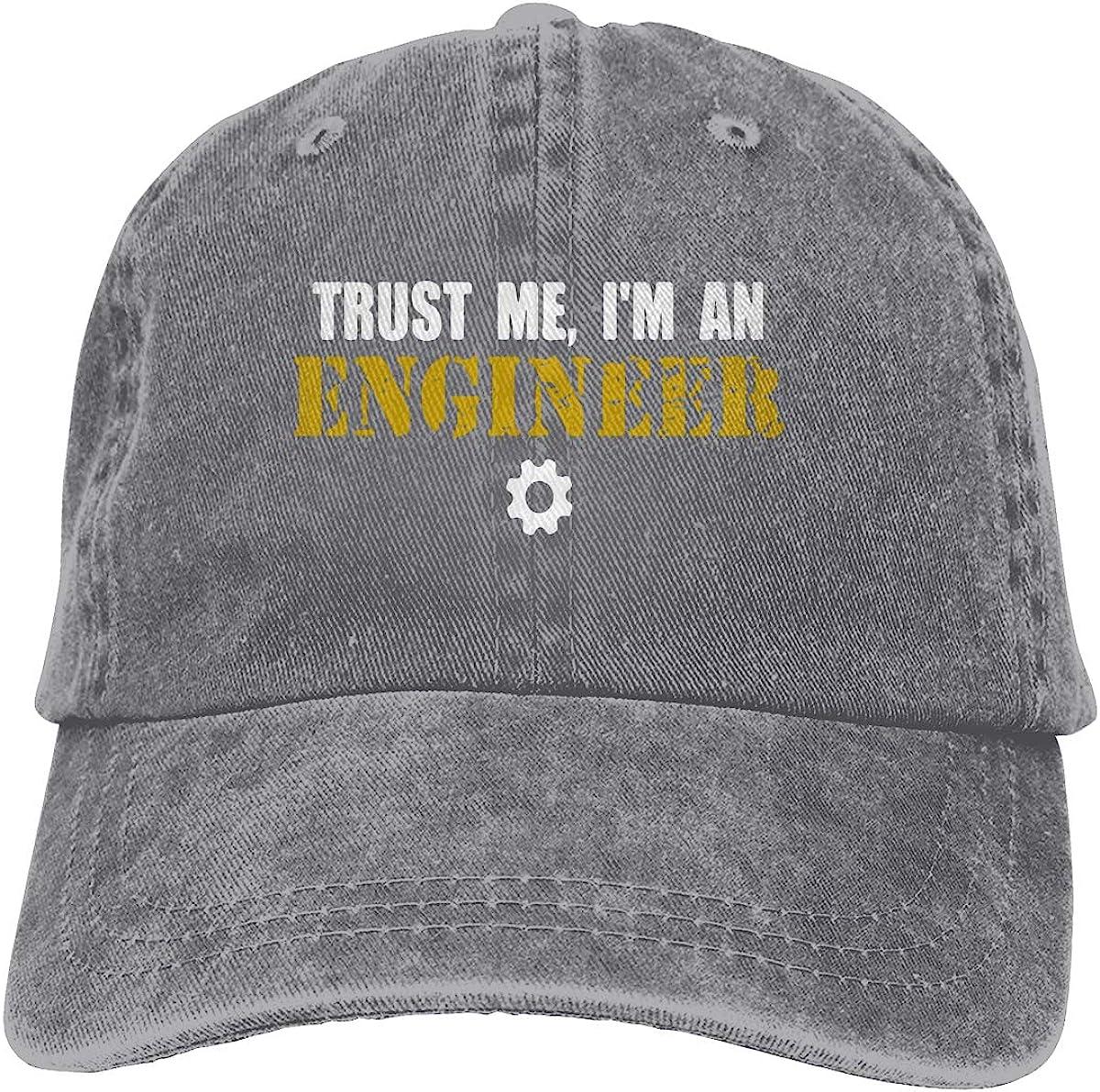 Trust Me Im an Engineer1 Unisex Personalize Cowboy Casquette Adjustable Baseball Cap