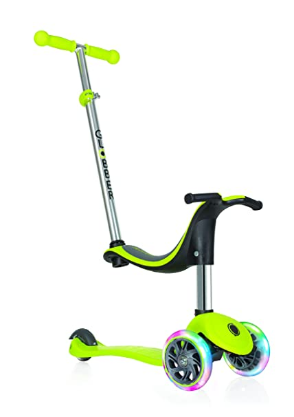Globber niños de EVO 4-en-1 con Light Up Ruedas Scooter