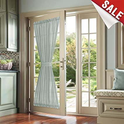 Amazon French Door Curtains Grey Faux Silk Privacy French Door