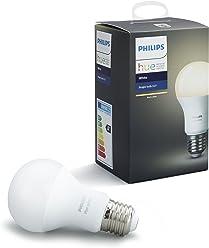 Philips Hue Ampoule Connectée Blanc E27 2ème génération - Fonctionne avec Alexa