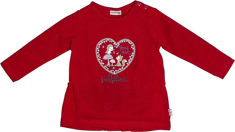 Salt /& Pepper Baby Girls Woodland Sunshine Herz Pailletten Longsleeve T-Shirt