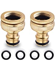 Onarway Brass Garden Hose/Hosepipe Tap Connector Threaded Faucet Adapter