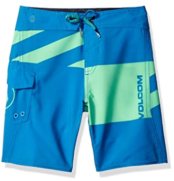 66a4eeac1a Volcom Little Boys' Logo Party Pack Mod Youth Boardshort, Poison Green, ...